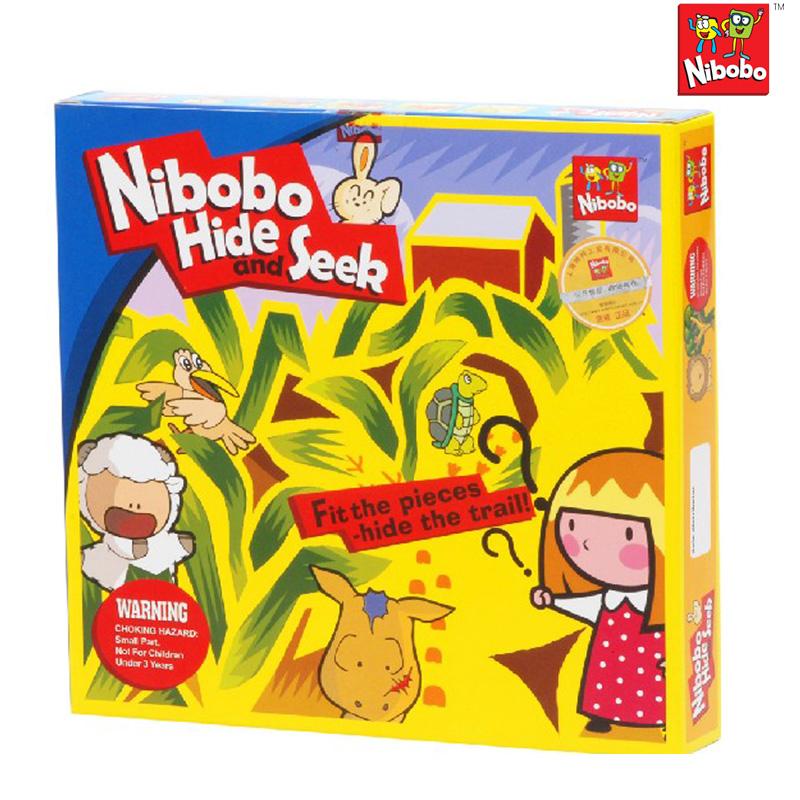 正版nibobo经典迷宫游戏捉迷藏 儿童成人益智智力玩具3岁以上