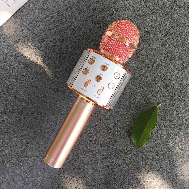 儿童麦克风无线话筒带扩音家用宝宝卡拉OK唱歌手机学玩具男孩女孩