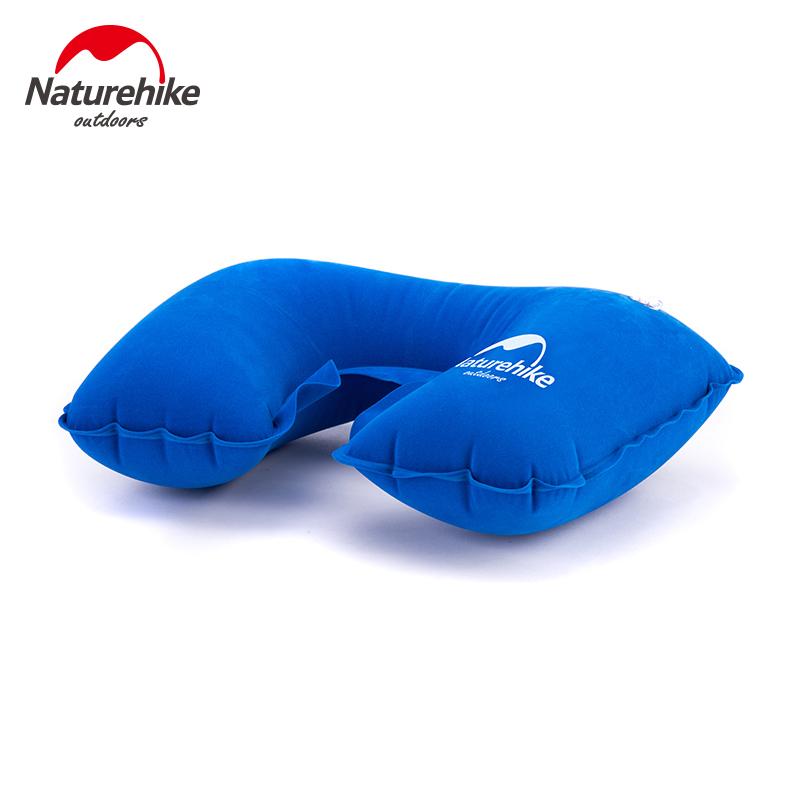 Naturehike旅行便攜充氣式u型枕頭火車飛機靠枕車用護頸枕可摺疊