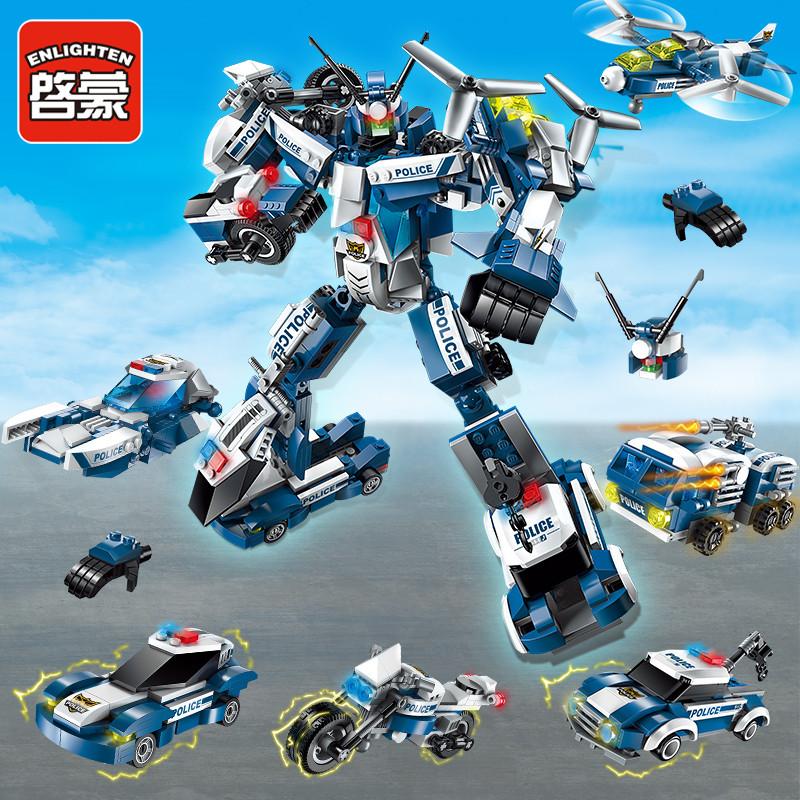 拼装积木变形金刚机器人组合汽车人大黄蜂男孩儿童益智玩具包邮