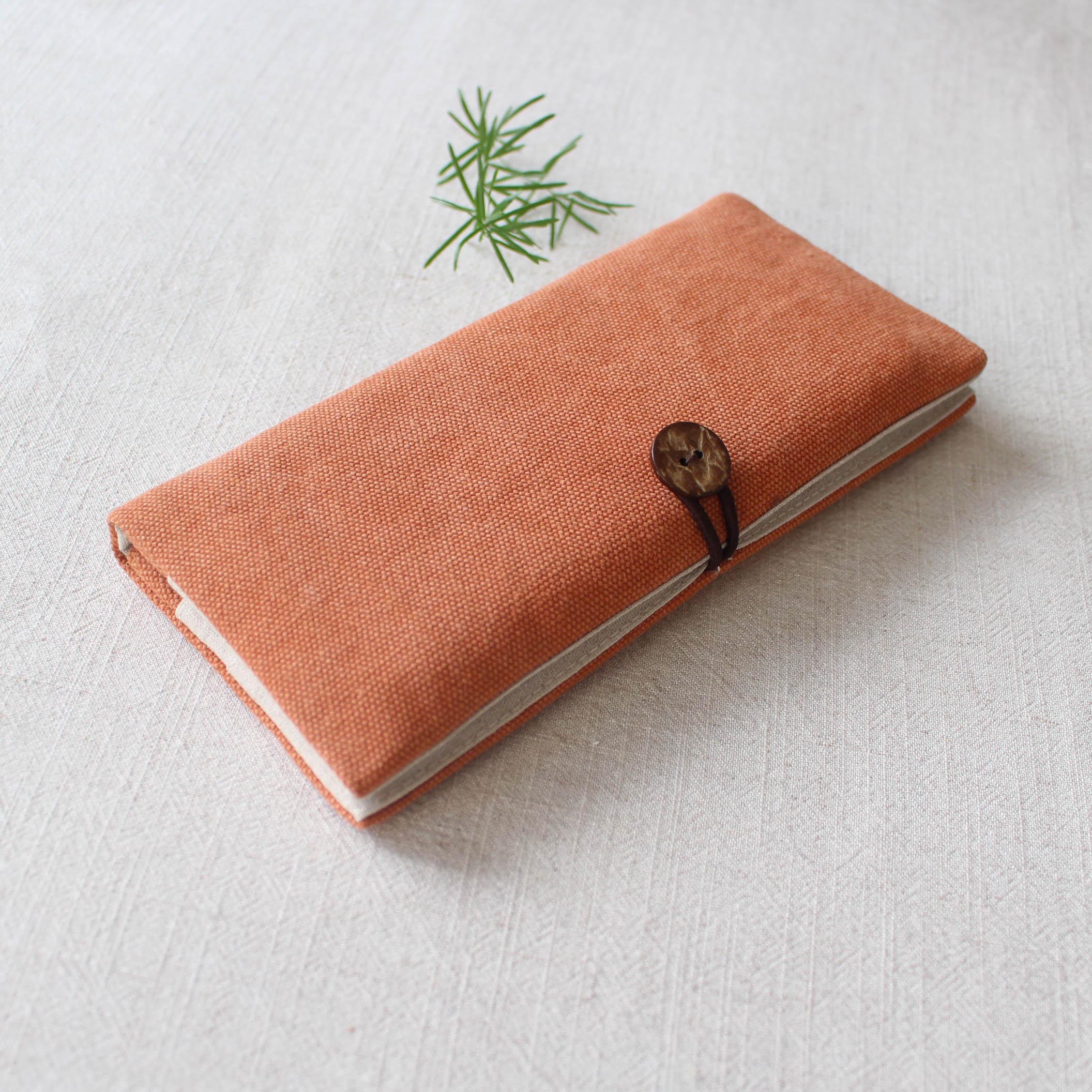 布钱包日式简约两折布艺钱包秋季棉麻国风森系少女文艺空白两折素