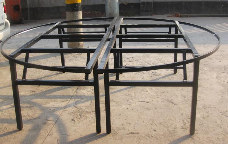 热卖圆台面折架对折桌脚架餐桌配件圆桌面伸缩折叠桌架子支架