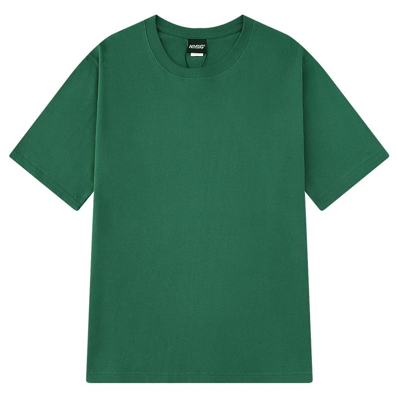 嘻哈纯棉纯色情侣短袖打底衫T恤白色男女体恤纯黑半袖衣服上衣 No.4