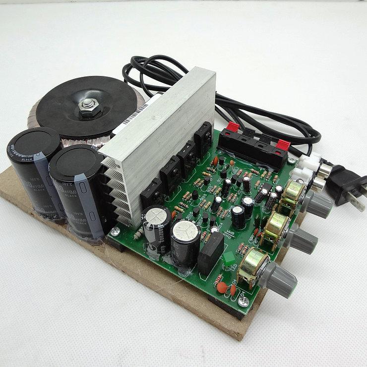 超勁無噪音220V功放板/大功率環牛四管功放/加風扇音箱電腦功放