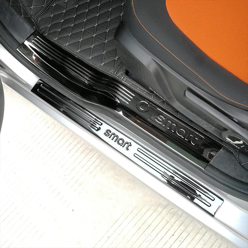 新款2门Smart汽车车用不锈钢专用 内置门槛条 外置门槛 迎宾踏板