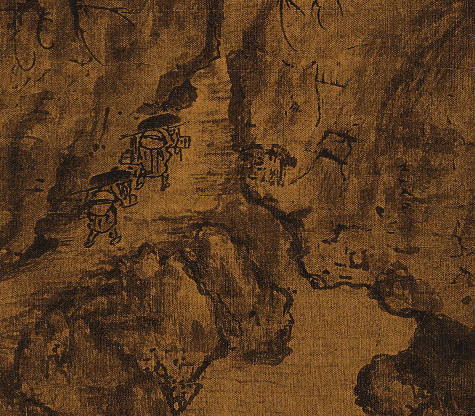 1:1北宋 郭熙 早春圖 絹本中國山水畫臨摹范本超高清藝術微噴