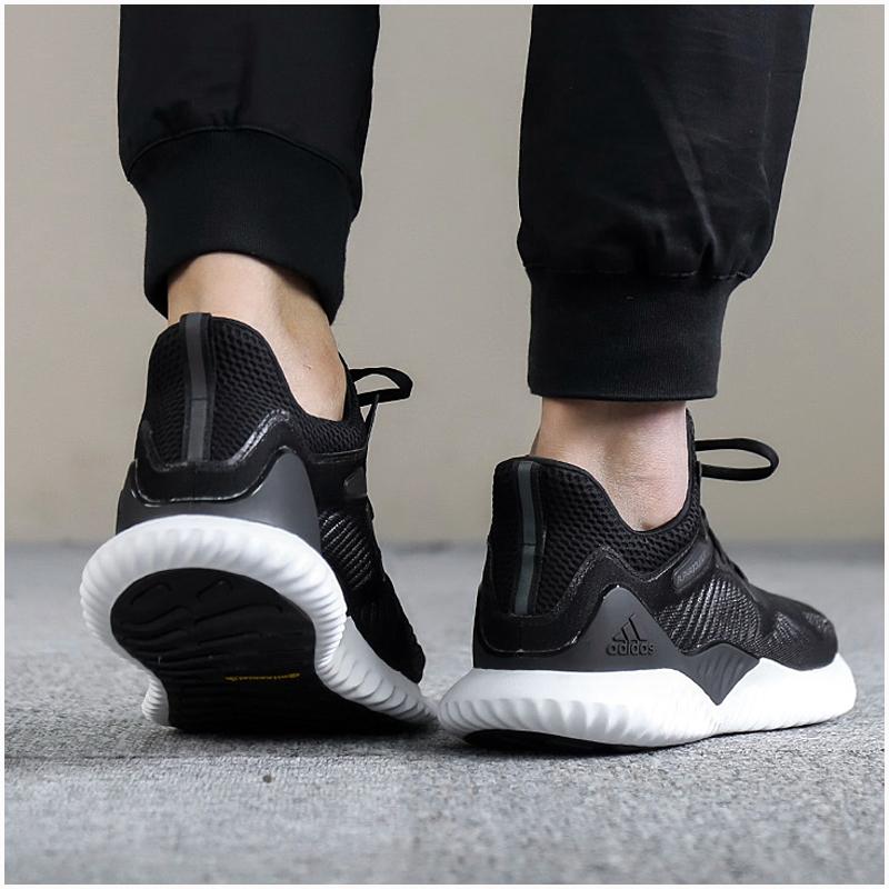 adidas阿迪达斯男鞋2018夏季阿尔法小椰子bounce透气跑步鞋AC8273