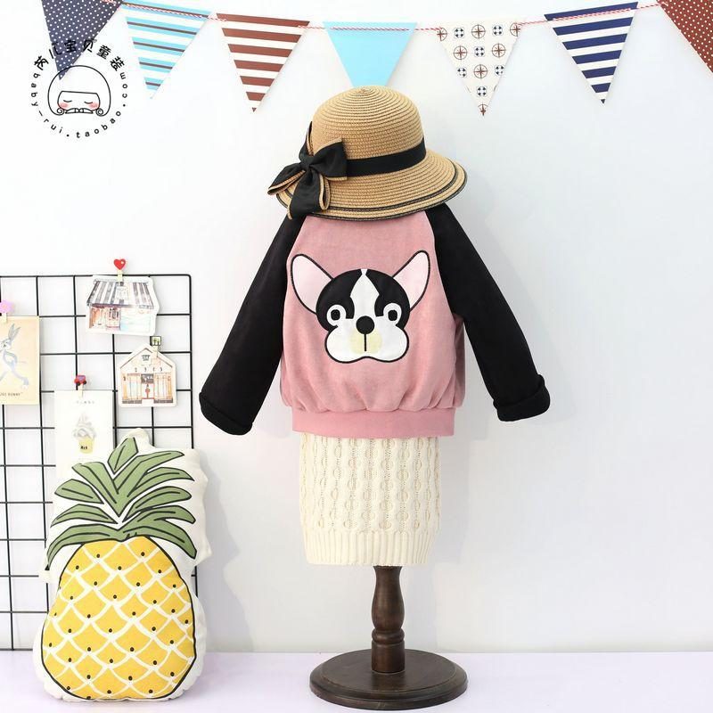 2019秋季新款童装外套2-7岁男 女宝宝卡通棒球服潮 韩版长袖上衣