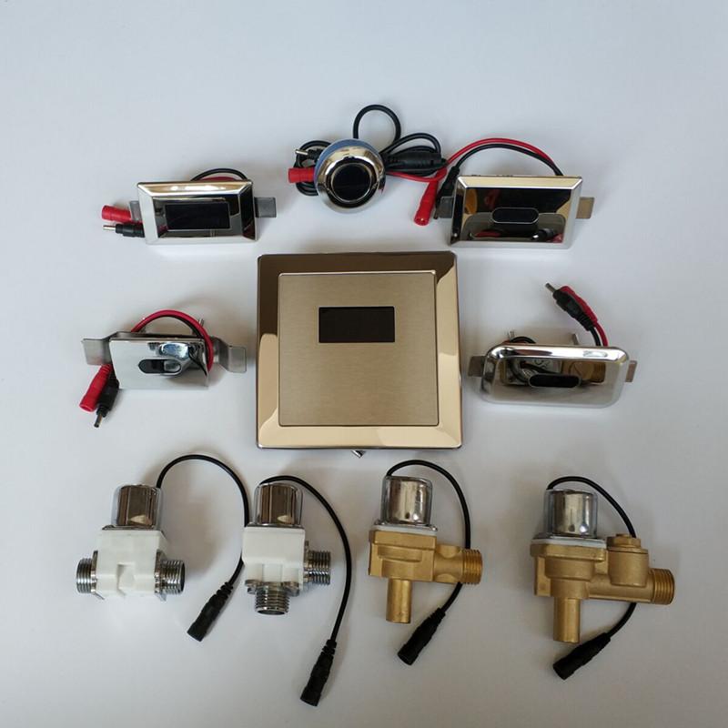 小便池感应器暗装配件面板小便器冲水器便斗6v电磁阀电池盒变压器