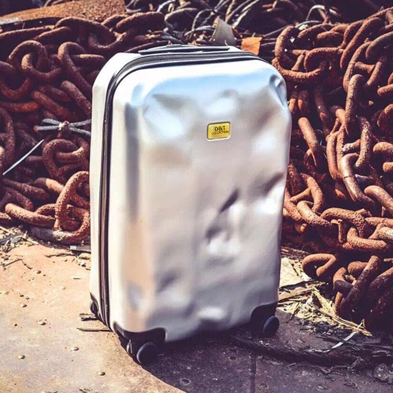 PC行李箱萬向輪20寸密碼登機箱28寸破損旅行箱男24寸拉桿箱女清新