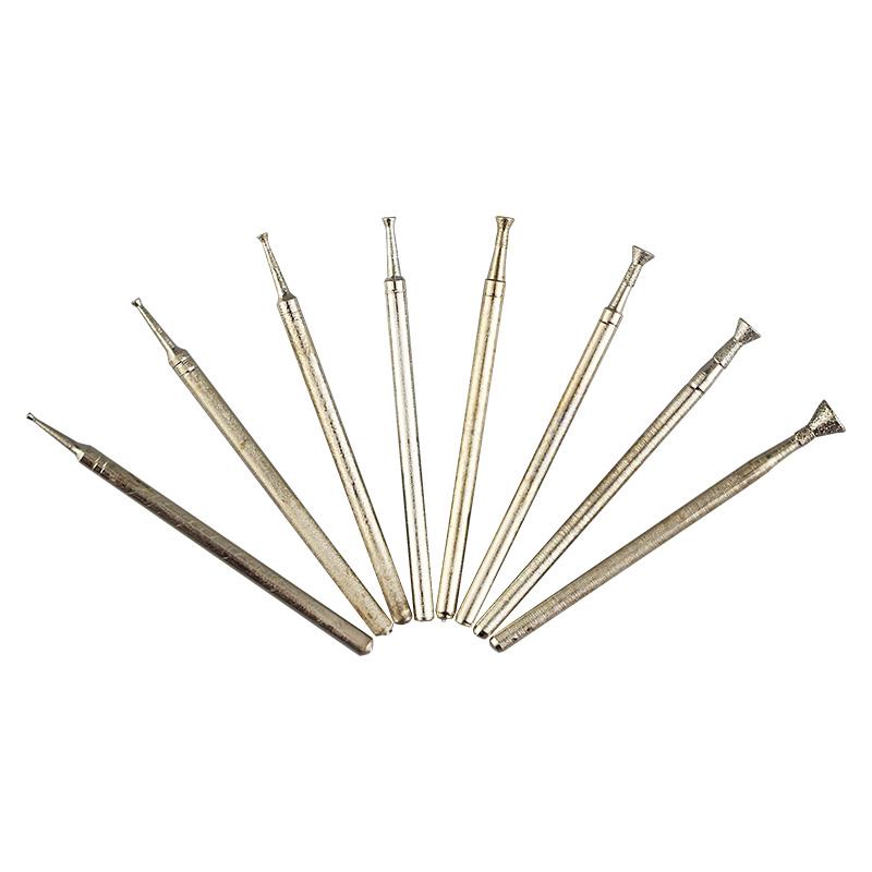 日月晶金刚砂打磨雕刻玉雕工具翡翠琥珀蜜蜡松石磨针压珠凹钉Q针