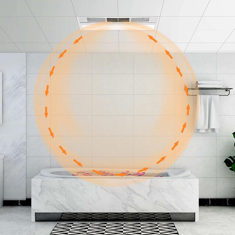 欧普照明集成吊顶风暖浴霸灯三合一取暖家用嵌入式卫生间暖风机A