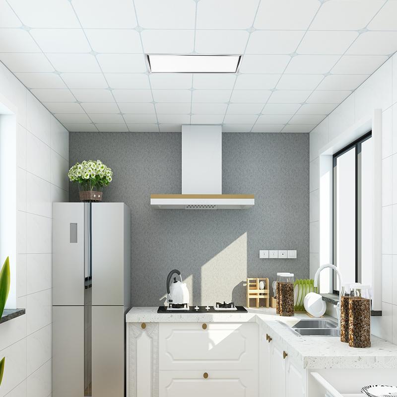 欧普照明集成吊顶led平板灯天花铝扣面板厨房卫生间嵌入式300*600