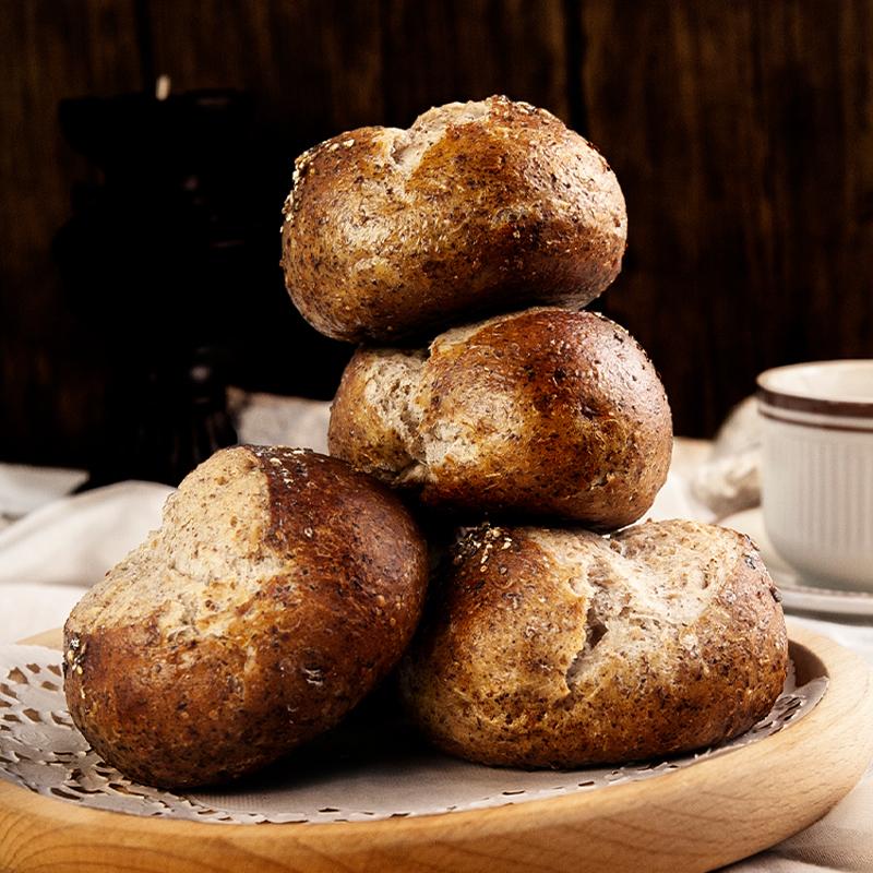 藜麦青稞全麦杂粮碱水面包营养健身代餐饱腹咸口袋装早餐手作欧包