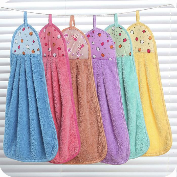 吸水擦手小毛巾 卫生间挂式搽手巾抹布 韩国可爱擦手巾家用抹手巾