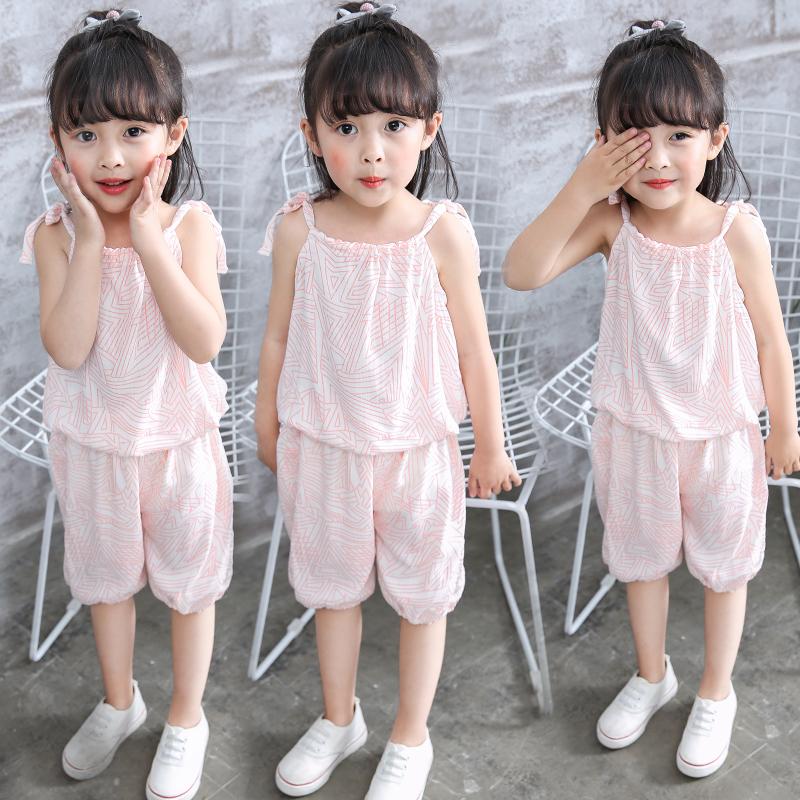 2018新款0女童女宝宝1夏装2衣服婴儿童装3岁韩版4纯棉两件套装潮5