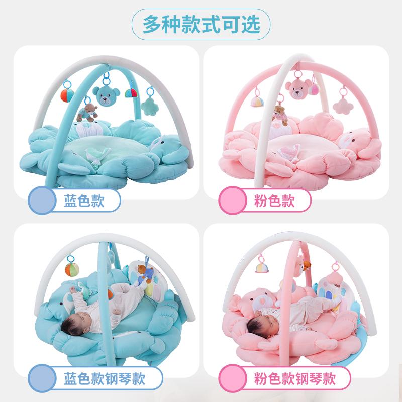 婴儿礼盒满月送礼百天宝宝礼物新生儿用品母婴益智健身毯四季玩具