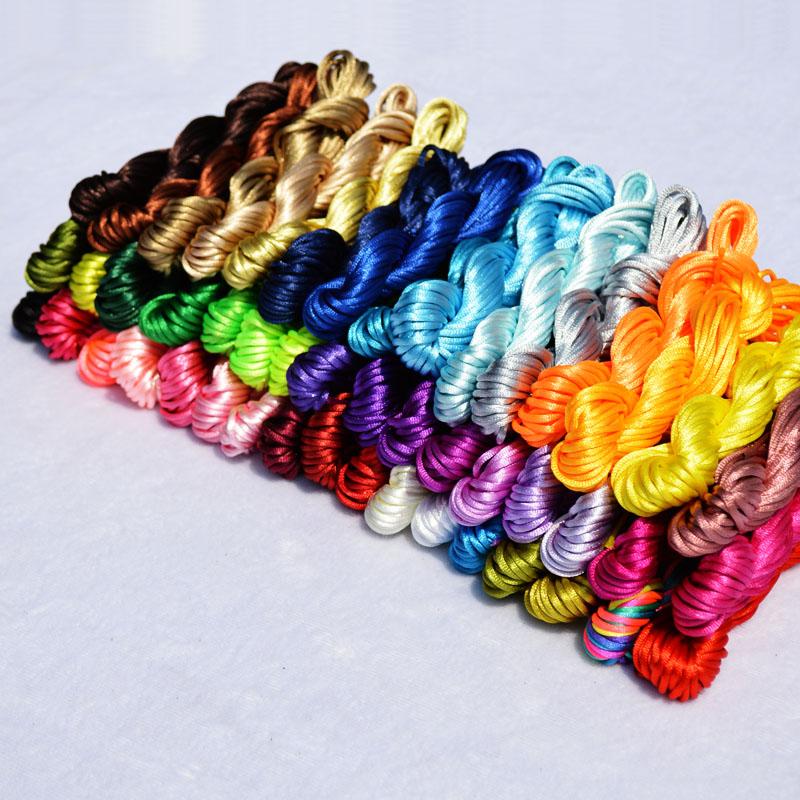 5号线中国结线材手链DIY手工编织线配件彩线材料绳子编绳玉线红绳