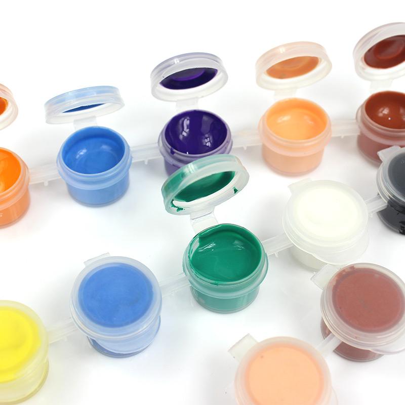 水彩丙烯颜料儿童画手绘画笔刷学生绘画涂鸦液体颜料DIY手工制作