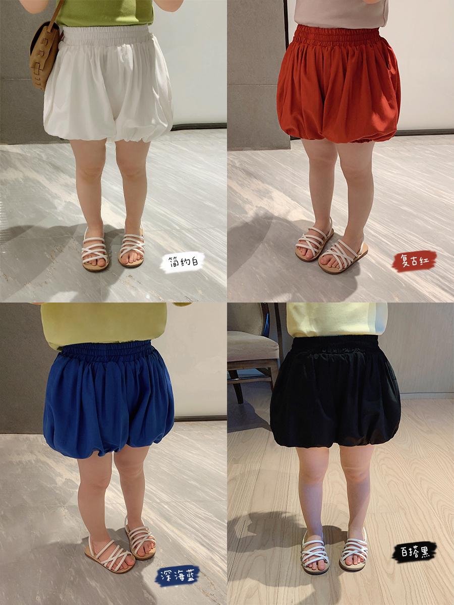 辰辰妈女童夏季 年花苞裤儿童洋气休闲外穿百搭南瓜短裤子  2020