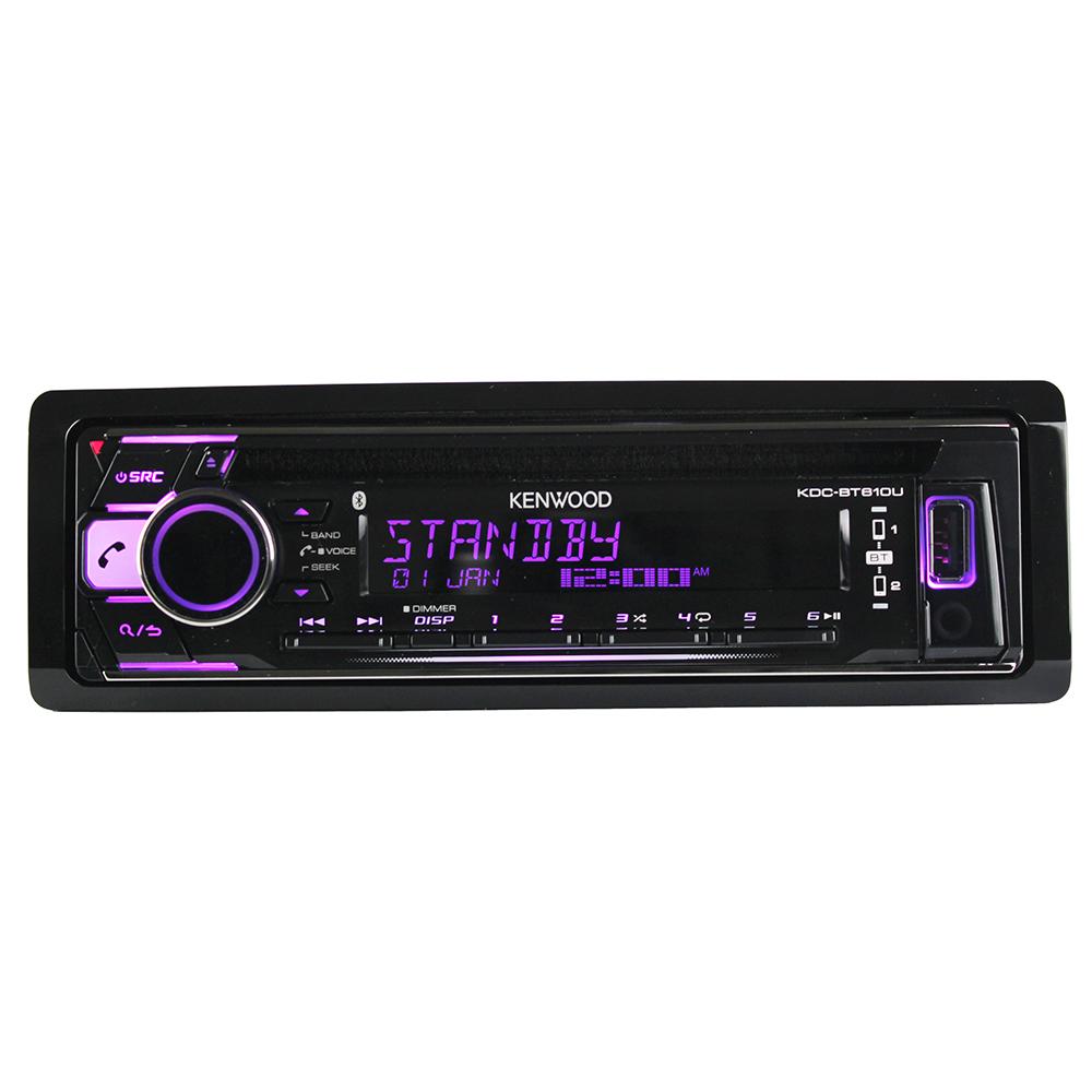 建伍KDC-BT610U蓝牙汽车CD机发烧主动分频DSP皇帝位A09先锋80P970