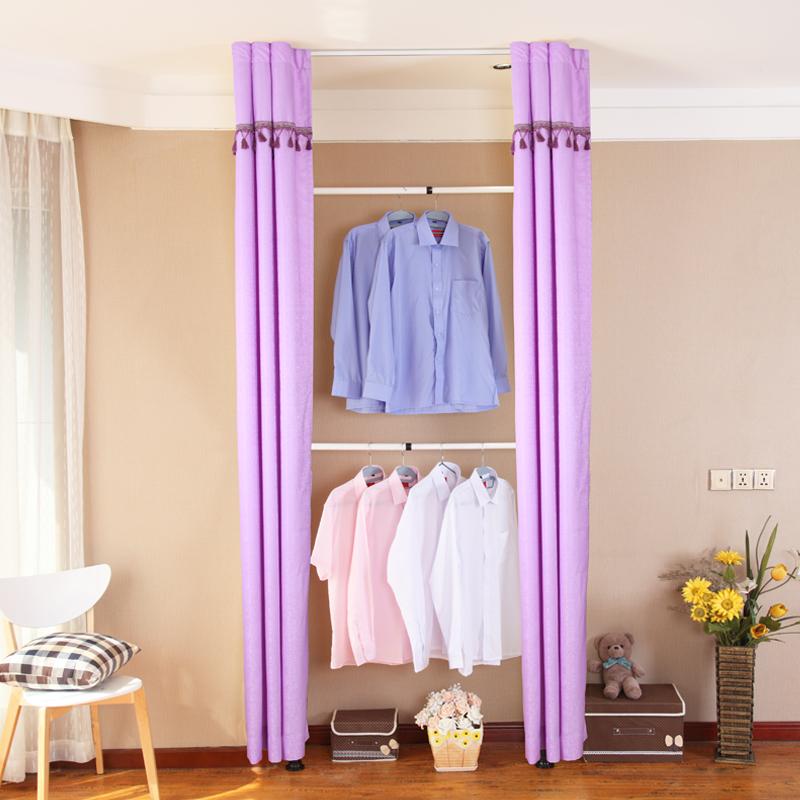 布衣柜简易衣柜布艺钢架整理柜室内卧室收纳柜双杆衣架落地衣帽架