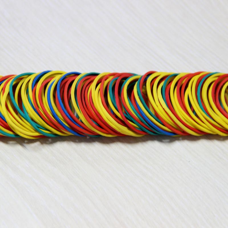 包邮 越南越意进口圆彩色橡皮筋牛皮筋皮套皮筋圈发圈环保高弹力