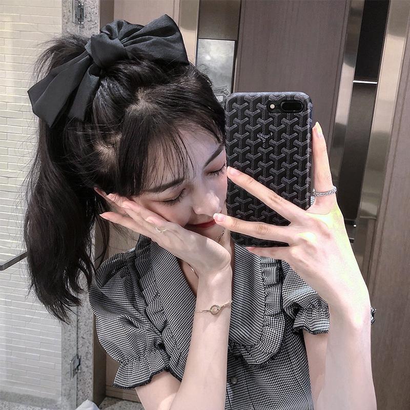 大蝴蝶结头饰网红发卡2021年新款女夏发饰黑色头绳发箍饰品发夹子