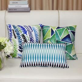 北欧抱枕植物田园草绿色枕套靠垫抽象客厅沙发飘窗抱枕套含芯