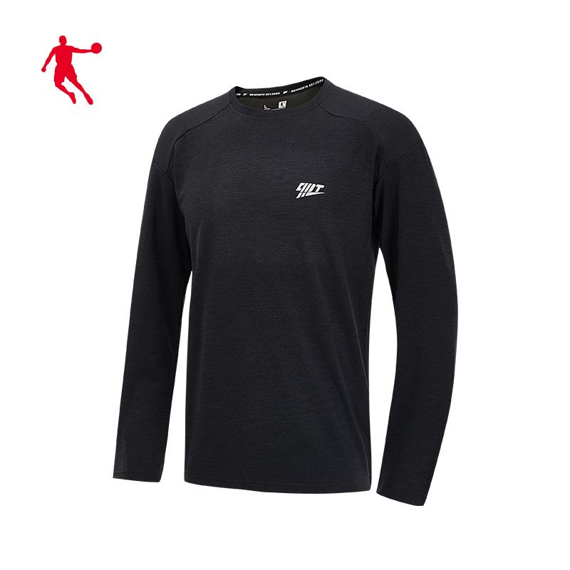乔丹男装运动T恤男长袖2020夏季新款速干男士健身上衣男子运动服