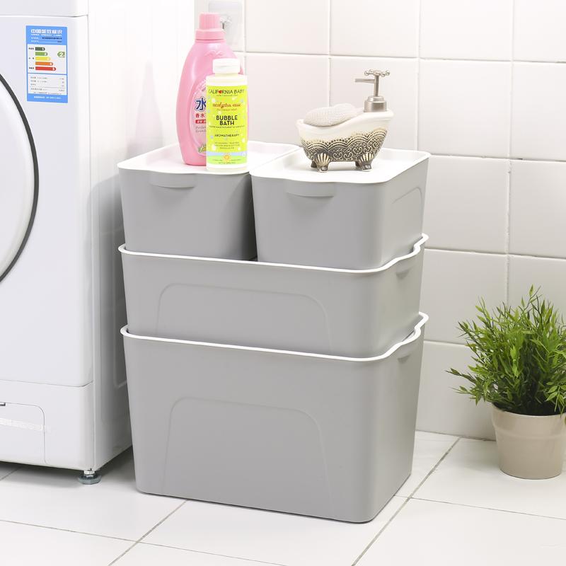 收纳箱收纳盒整理箱衣服塑料有盖玩具置物箱大小号装书零食储物箱