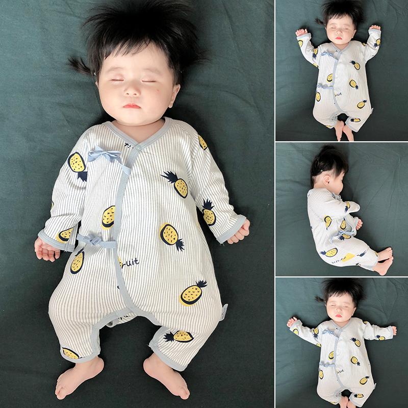 蓓莱乐新生儿和尚服初生婴儿连体衣服宝宝夏装春秋套装睡衣刚出生