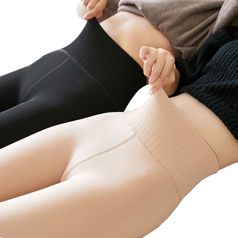 打底裤袜女秋冬季肉色大码裸感高腰外穿保暖棉裤加厚加绒光腿神器