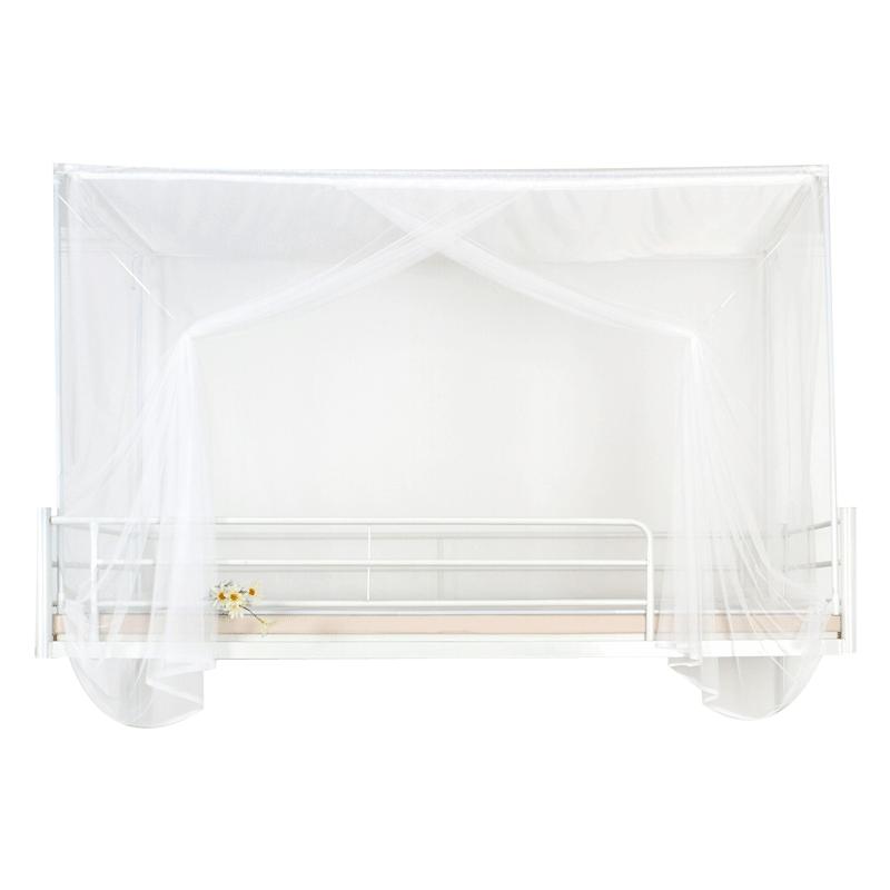 可意大学生男生宿舍女生寝室上铺上下铺纯白色90宽防尘顶蚊帐6色