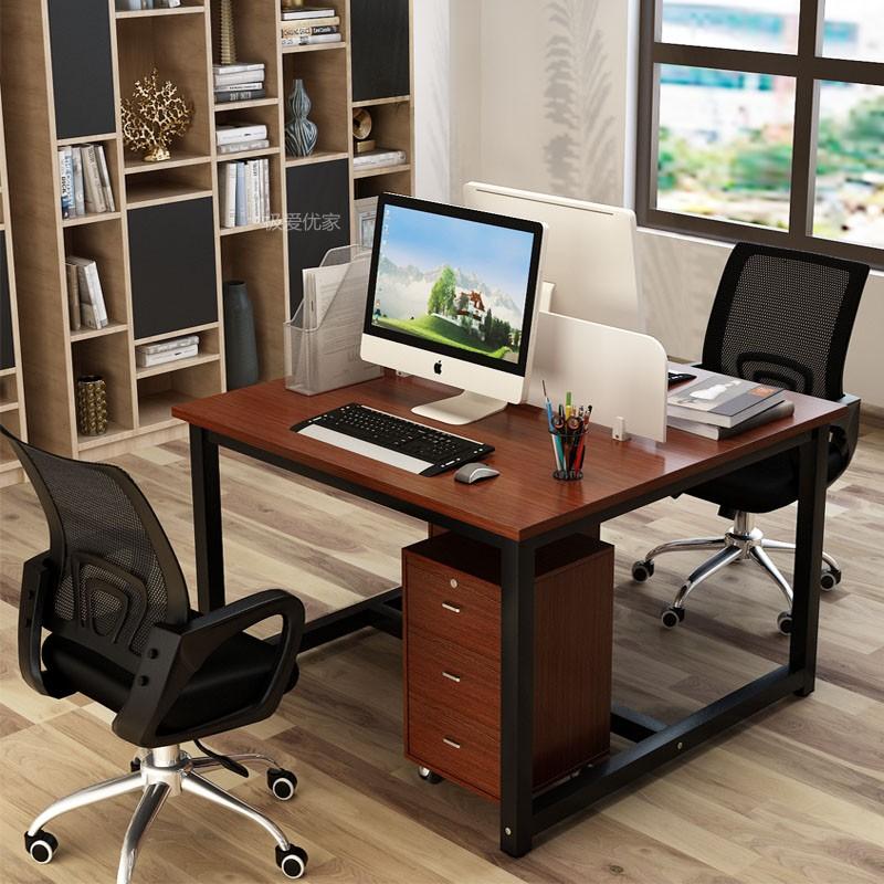 办公桌双人工位办工桌电脑桌靠墙 人双人位面对面 2 4 6 职员工作位