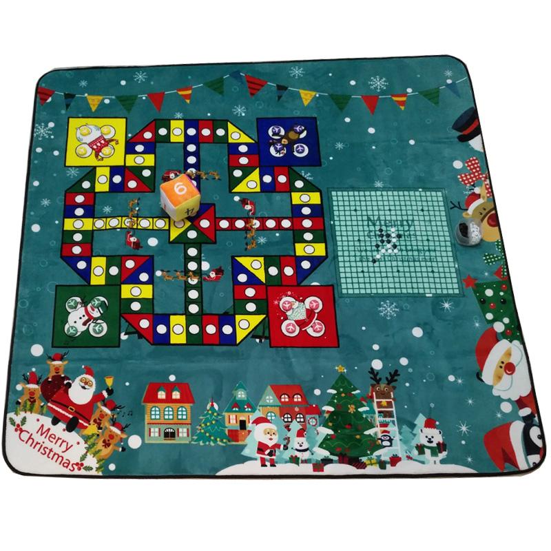 飞行棋地毯地垫超大号五子棋跳棋大富翁亲子毛绒游戏垫儿童爬行垫