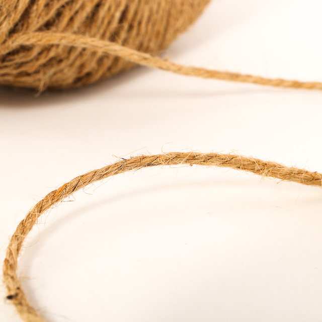 Jute twine hand-made diy weaving wicker net balcony vegetable hanging seedling rope retro decoration fine jute thread ball