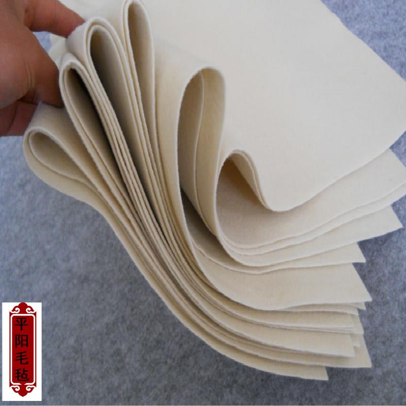 厂家直销黑白灰书画毡毛笔字垫80 120书法垫毛毡写毛笔字垫的毛毡