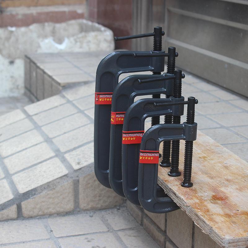 斗牛士重型g字夹拼板夹加厚型G型夹子C型夹木工夹具固定夹具F夹具