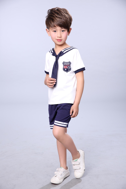新品儿童小海军水手演出服小学生海军校服班服运动会合唱表演服装