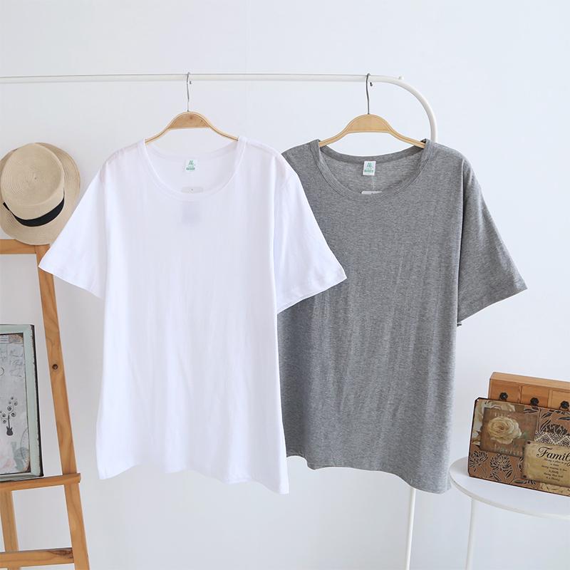 AB内衣夏季中老年人纯棉老头衫宽松透气男士圆领短袖T恤大码汗衫