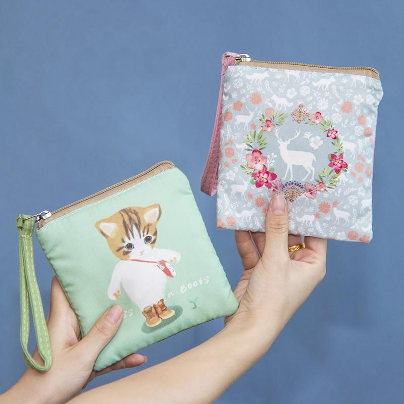 衛生巾收納包大容量拉鍊可愛旅行月事裝m巾棉條小包姨媽巾收納包