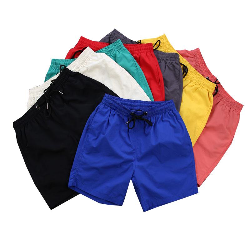 男士短裤夏季欧美运动速干五分裤纯色休闲宽松大裤衩子沙滩裤男潮