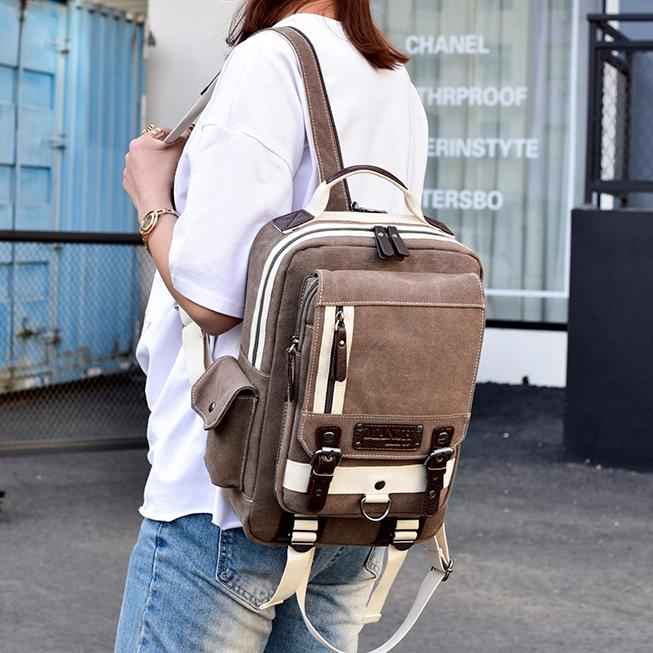 兩用男女胸前包大容量胸包時尚斜挎後背包單肩旅行包休閒雙肩小包
