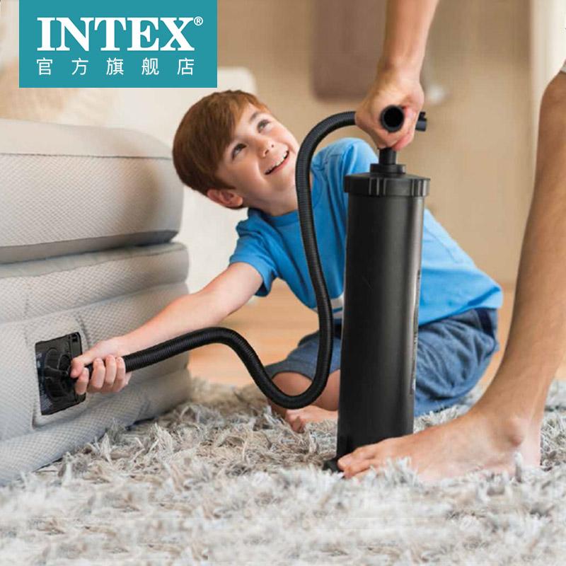 INTEX充抽大號充氣泵游泳圈游泳池床墊橡皮艇家使用者外便攜打氣筒