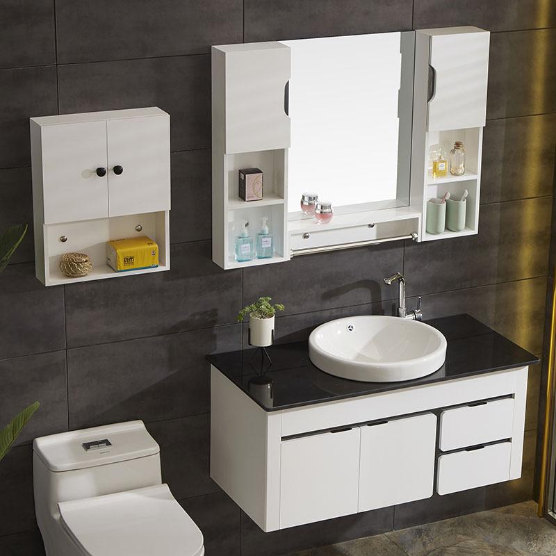 浴室柜洗漱臺小戶型衛生間洗臉手盆洗面池廁所衛浴組合 pvc 落地式
