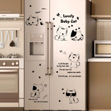 Creative Nordic refrigerator stickers cute decorative kitchen furniture renovation waterproof self-adhesive stickers can be removed