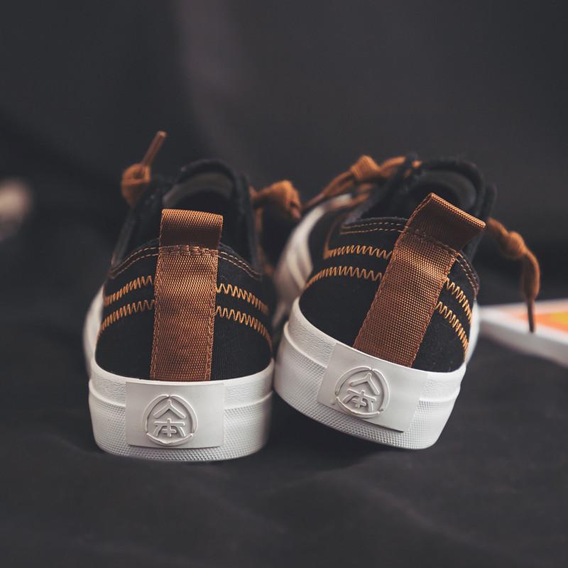 新款黑色平底休闲帆布鞋春季韩版百搭小白鞋女学生板鞋子 2019 人本