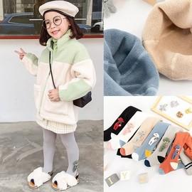 女童袜子可爱超萌秋冬冬季超厚打底裤外穿小童连裤袜冬加厚保暖