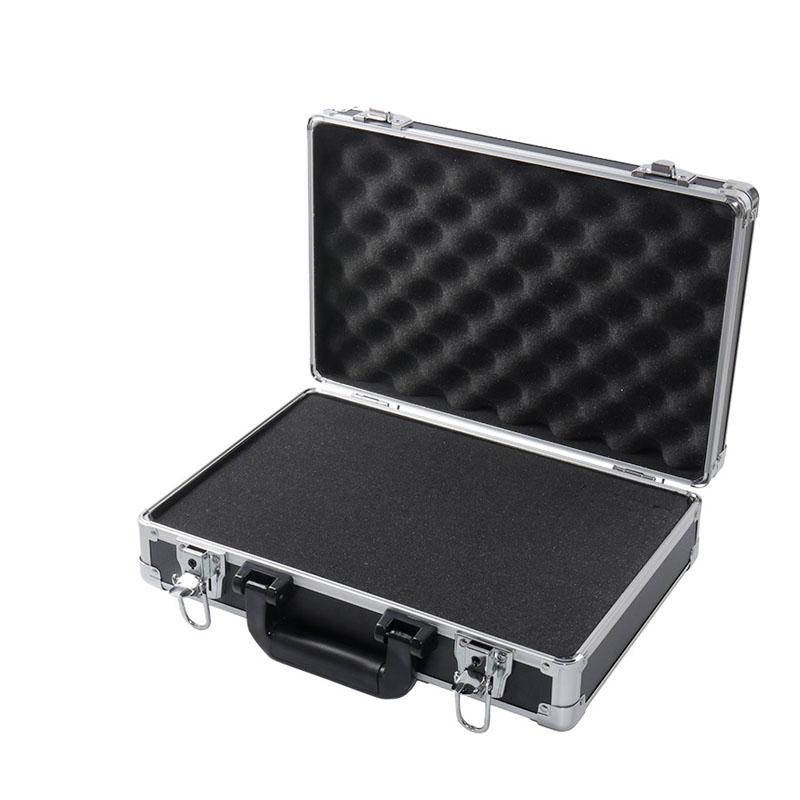 手提铝合金工具箱大号 仪器仪表箱手提圆角箱 车载维修箱包邮